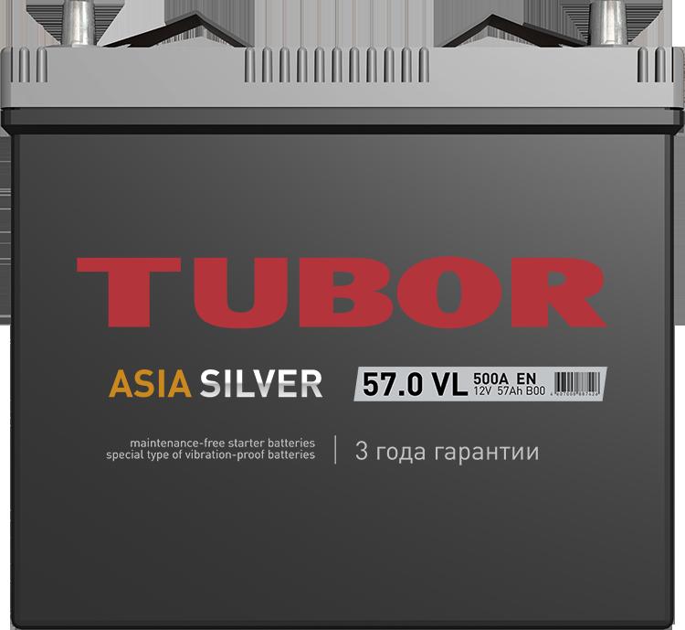 АКБ Tubor Asia Silver 57 Ач о/п 6СТ-57.0 VL