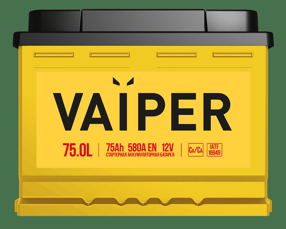 Аккумулятор VAIPER 6СТ-75.0 L