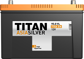 Аккумулятор TITAN ASIASILVER 6CT-95.0 VL