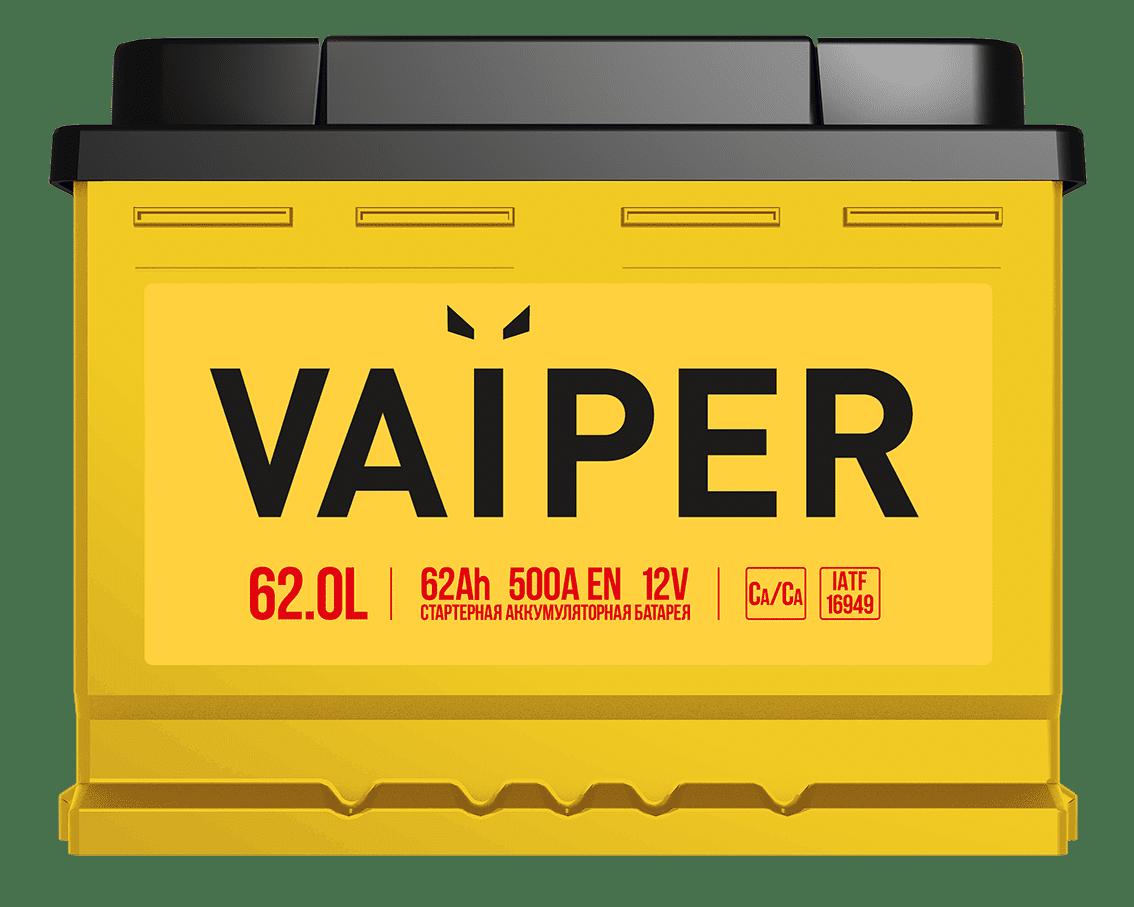 Аккумулятор VAIPER 6СТ-62.0 L
